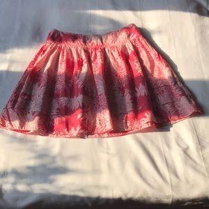 GAP coral cotton floral skirt size 4